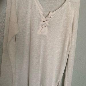 XL Beach Style White Shirt/Coverup